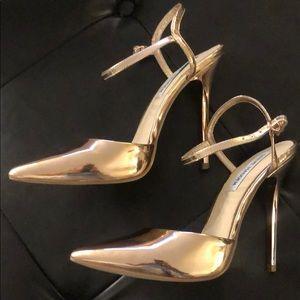 Steve Madden Rose 🌹 Gold heels